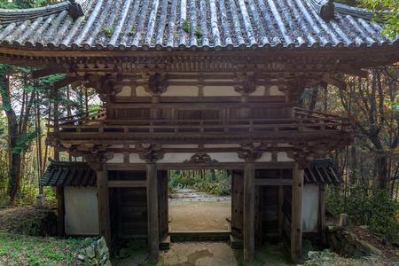 The Deva gate in Azuchi castle ruins