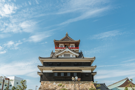 The castle tower of the Kiyosu Castle in Aichi, Japan