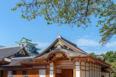 Honmaru palace and castle tower of Nagoya-jo castle Editorial