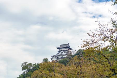 Autumn scenery of the Inuyama-jo castle