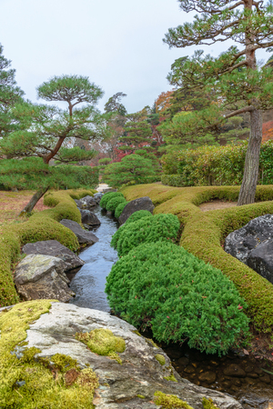The murmur of stream in the japanese garden Stok Fotoğraf