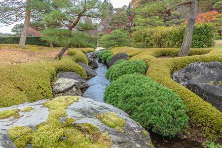 The murmur of stream in the japanese garden Stok Fotoğraf