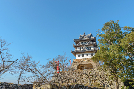 The castle tower of the Sumoto castle in Sumoto city, Japan Editorial