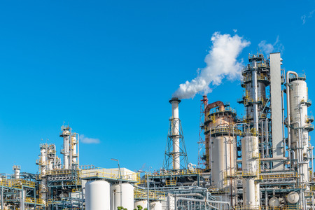 Oil refining factory Stock Photo