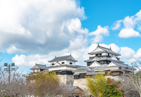Castle tower of the Matsuyama castle in Ehime, Japan