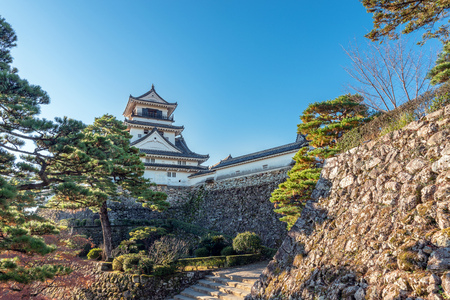 Scenery of the Kochi castle in Kochi, Japan