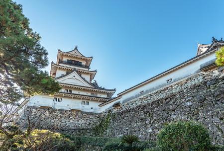 Castle tower of the Kochi castle in Kochi, Japan 報道画像
