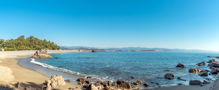 Scenery of Katsura-hama beach in Kochi, Japan 免版税图像