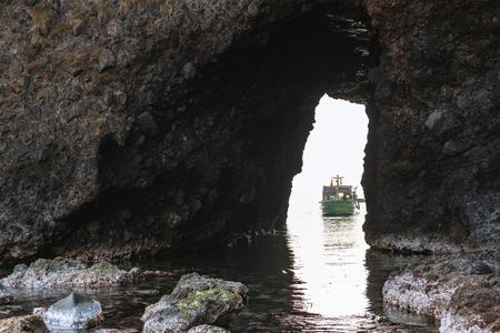 Scenery of the Noto Kongo of Noto Peninsula Quasi National Park in Ishikawa, Japan 版權商用圖片