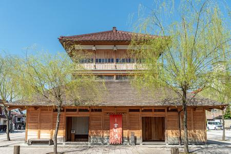 Old public bath of Yamashiro Onsen in Ishikawa, Japan