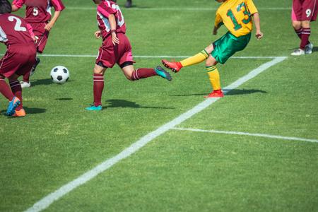Scenario della partita di calcio femminile Archivio Fotografico