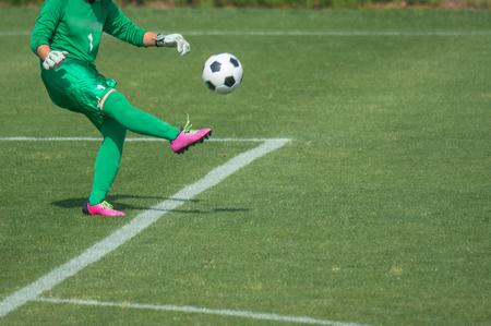 Scenery of the women's soccer game Stockfoto
