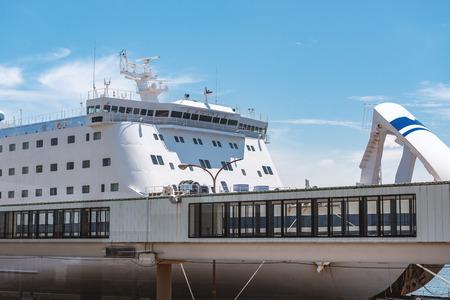 Scenery of the ferry terminal Standard-Bild - 113231182