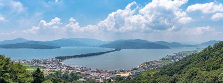 Amanohashidate is one of Japans three scenic views 스톡 콘텐츠