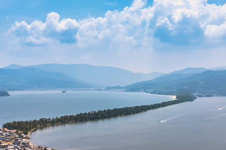 Amanohashidate is one of Japans three scenic views 스톡 콘텐츠