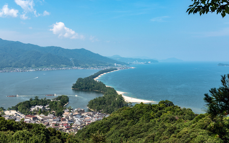 Amanohashidate is one of Japan's three scenic views 스톡 콘텐츠
