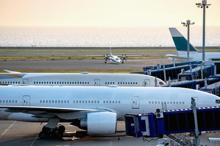 Passenger plane of the apron