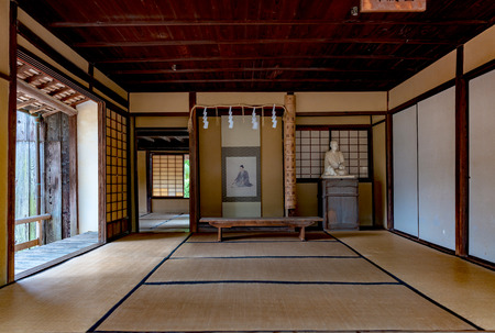 Lecture room of the Shokasonjuku private school in a village