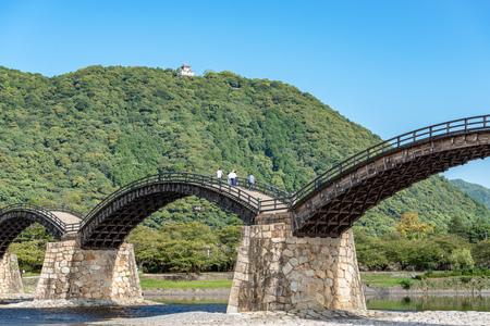 Scenery of the Kintaikyo bridge Stock Photo