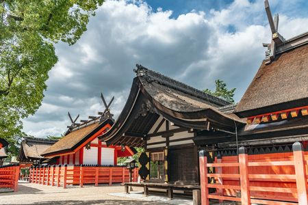 Precincts scenery Sumiyoshi taisha shrine in Osaka city