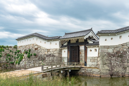 Scenery of the Ako castle in Ako city, Japan