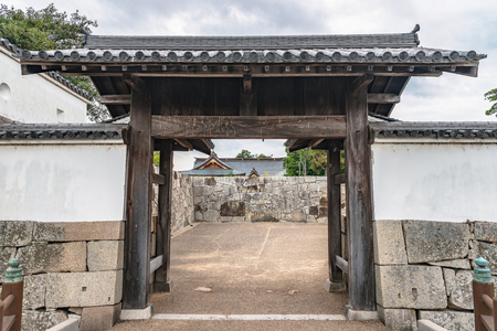 Otemon gate of the Ako castle in Ako city, Japan
