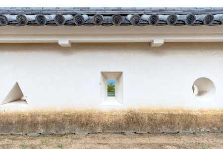Teppo sama (loophole to fire a gun) of the castle wall