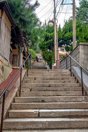 Scenery of the slope in Onomichi city, Japan 免版税图像
