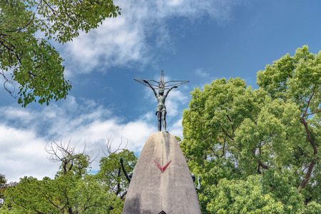 The Childrens peace monument in Hiroshima peace memorial park