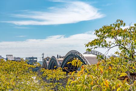 Scenery of the Kintaikyo bridge in Iwakuni city, Japan