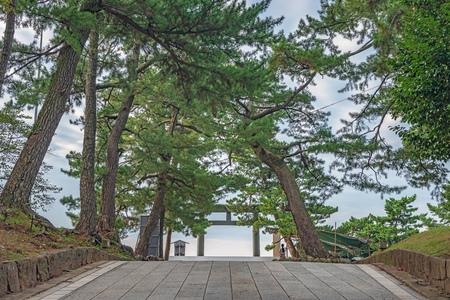 Seidmri Torii gate of the Izumo Taisha in Izumo city, Japan Stock Photo