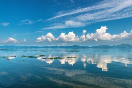 Scenery of Lake Shinji in Japan