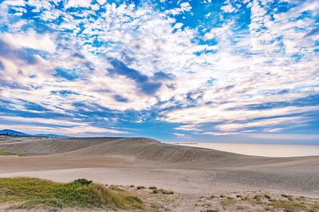 Evening scenery of the Tottori Sand Dunes Stok Fotoğraf