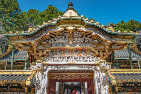 Karamon Gate of the Nikko Toshogu Shrine in Nikko city Reklamní fotografie