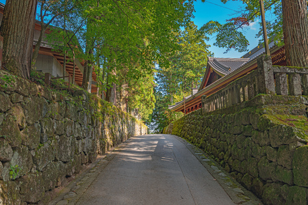 Precincts scenery of the Rinnoji temple in Nikko city