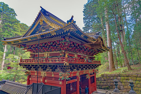 Nitenmon Gate in Taiyuin mausoleum of the Rinnoji temple in Nikko city