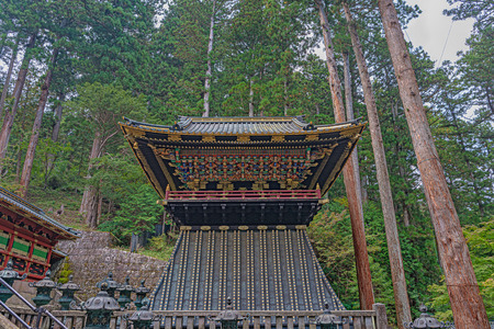 Bell tower in Taiyuin mausoleum of the Rinnoji temple in Nikko city