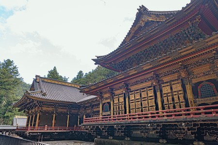 Worship hall in Taiyuin mausoleum of the Rinnoji temple in Nikko city