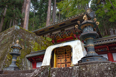 Kokamon Gate in Taiyuin mausoleum of the Rinnoji temple in Nikko city Reklamní fotografie