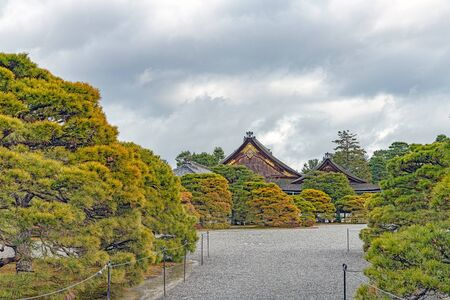Winter scenery of the Kyoto Imperial Palace in Japan Reklamní fotografie