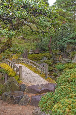 Gonaitei Garden of the Kyoto Imperial Palace in Japan