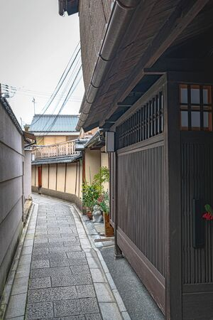 Traditional cityscape of the Gion in Kyoto city