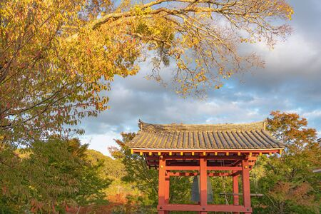 Evening scenery of Temple bell of Byodoin Temple in Kyoto
