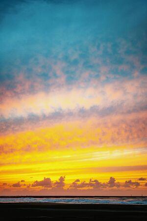 Beautiful sunset beach in Japan