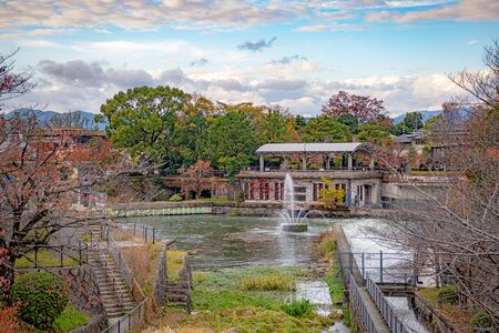Fountain of Lake Biwa Canal in Kyoto