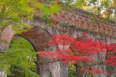 Autumn scenery of the Suirokaku in Kyoto, Japan