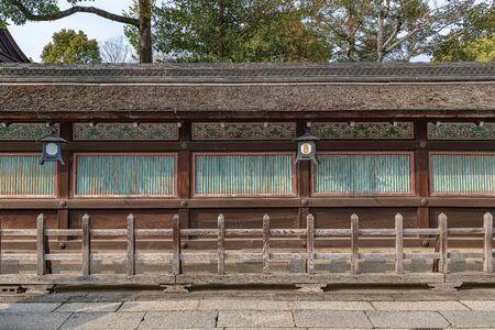Boarding fence of the Yasaka jinja shrine in Kyoto, Japan