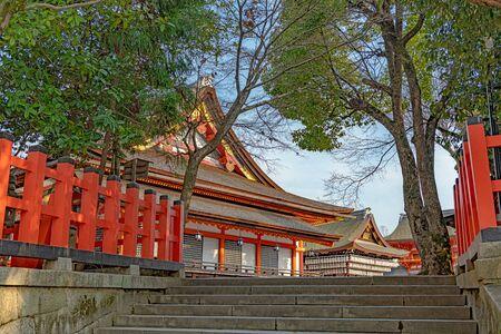 Precincts scenery of the Yasaka jinja shrine in Kyoto, Japan