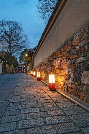 Hanatoro (Light and Blossoms Pathway) of Nene no Michi in Kyoto, Japan