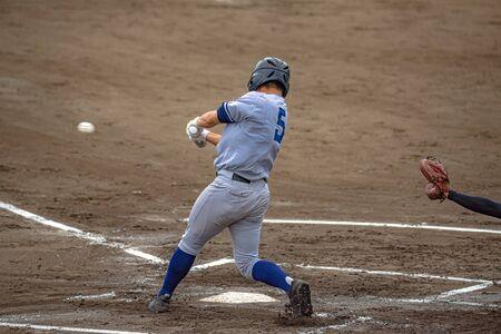 Scenery of the baseball game